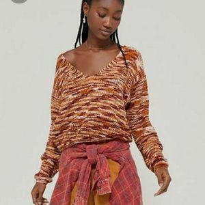 UO Kingston Chenille V-Neck Sweater